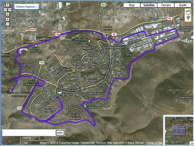 ניס מסלול רכיבת אופניים | סובב כרמיאל + תצפית NV-21
